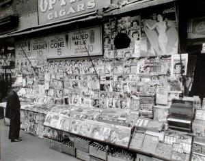 old newspaper stand 1935